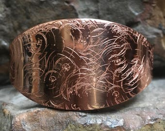 Bright Copper Abstract Copper Bracelet