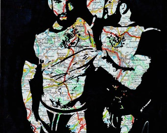 hot hairy gay bears with beards and tight tshirts homo queer art by NLMKART PRINT