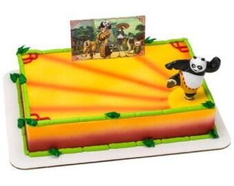 Kung Fu Panda 3 Po & The Furious Five Cake Topper