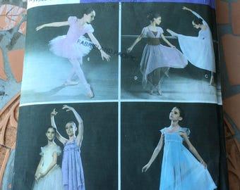 Simplicity Sewing Pattern 5136 Ballet Tutu Dress Underskirt Top Skirt Rehearsal Play Dance Tap Dancing Girl Teen School Play Size 7-16