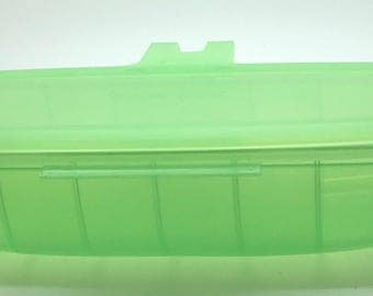 Vintage Tupperware Forget Me Not Cucumber Carrots Celery Veggies Vegetables  Fridgesmart Vegetables  Storage  Light Green