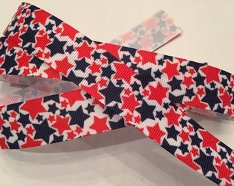 "Stars 7/8"" Grosgrain Patriotic Ribbon"