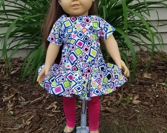 """18"""" Doll Outfit, Shirt and Pink Leggins for 18"""" Dolls American Girl Doll Clothes"""