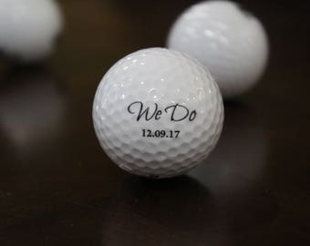 Personalized We Do Golf Ball, Wedding Day Gift,Color Printed Golf Balls, Wedding Custom Golf Ball, Christmas Gift