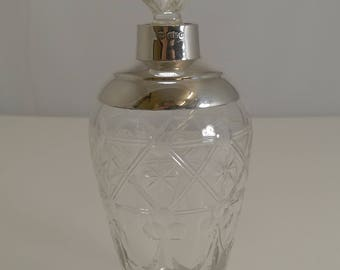 Antique English Sterling Silver Mounted Perfume Bottle - 1915