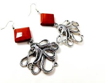 Steampunk Octopus Earrings For Her Women Jewellery