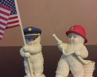 Snowbabies | Dept 56 | Police | Firefighter | Collectible