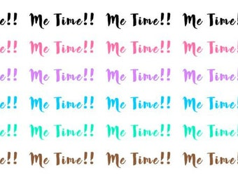 Me Time Wordy Icons WI0053