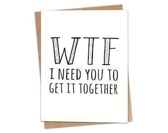 Get It Together Greeting Card SKU C204