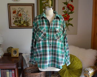 Vintage Flannel | Union Made BROTHER Plaid Flannel