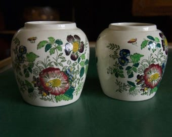 Mason's Ironstone Ginger Jar - Pair
