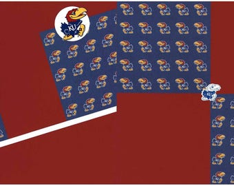 Kansas Jayhawks Premade 12x12 Scrapbook Pages