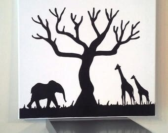 """Escape African"" prints for 80-100 people tree"