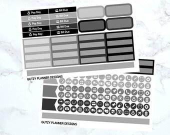 Minimalist Monthly Sticker Kit