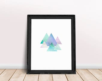 Marble Triangles | Triangle Art Decor, Marble Decor Print, Marble Prints, Triangle Abstract, Triangle Wall Art, Triangle Wall Decor