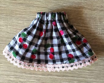 Gingham skirt and cherries - Pullip
