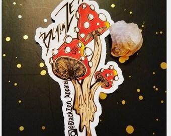 BlackZen || Dripping Shroom *~* Sticker