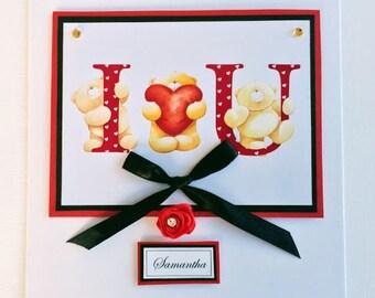 Handmade Valentine's Day Card - Loving You