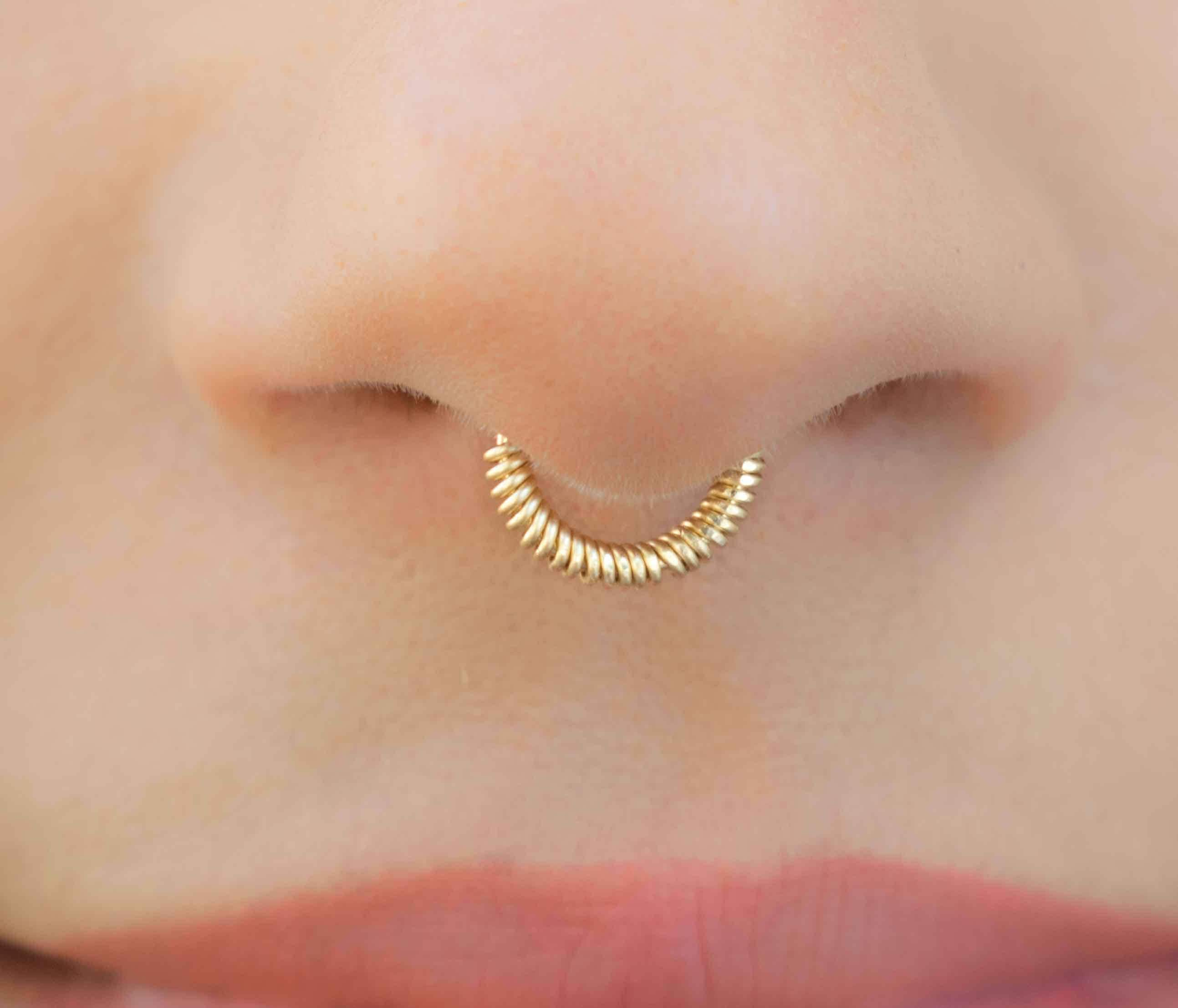 beautiful hoop nose ksvhs ring indian gold jewellery
