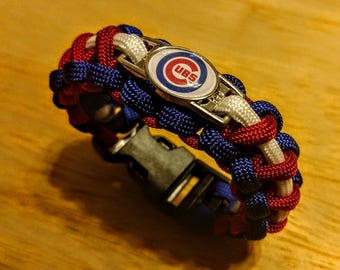 Chicago Cubs Inspired Paracord Bracelet