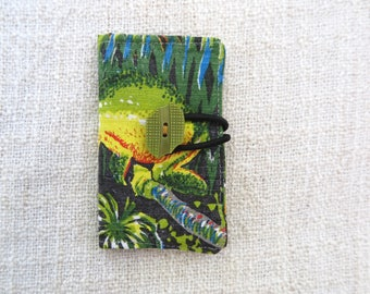 Card wallet, Credit card wallet, Loyalty card wallet, Repurposed fabric wallet, Frog wallet, Frog card wallet, Handmade card wallet, gift