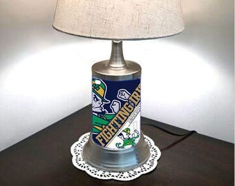Notre Dame Fighting Irish Lamp with shade