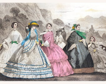 Make Your Own Jumbo-Sized GODEY 1800's FASHION PRINT to Sell (#2)