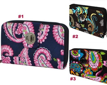 paisley quilted wallet