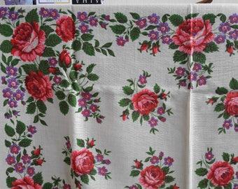 Russian Wool Shawl, Pavlovo Posad shawl, white folk ethnic shawl, chale russe, wedding shawl, bridal wrap, folk shaw, russian shawl