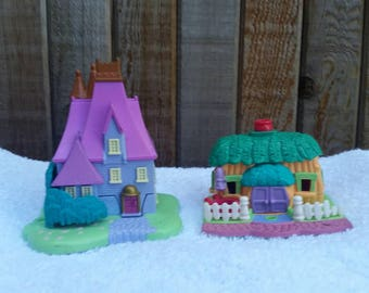 90s Polly Pocket lot, Disney Cinderella Stepmothers House and Animal Wonderland, Bluebird Toys 1995 and 1994.