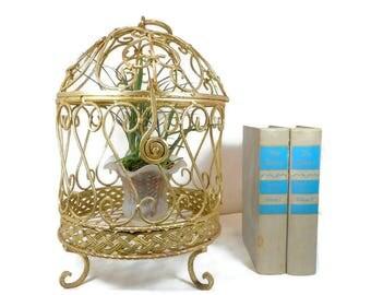 Vintage Bird Cage, Hanging Metal Bird Cage, Decorative Bird Cage, Candle  Holder,
