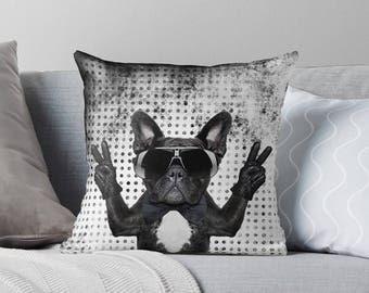 French Bulldog Pillow   French Bulldog Gifts   French Bulldog Decor   French Bulldog Cushion   French Bulldog Throw Pillow   Pillow Cover