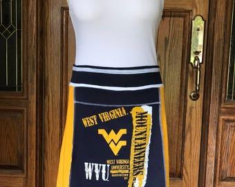 WVU Mountaineers Game Day skirt, medium
