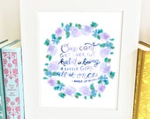 Anne of Avonlea Quote - Growing Up - Wall Art Print- QAOA1