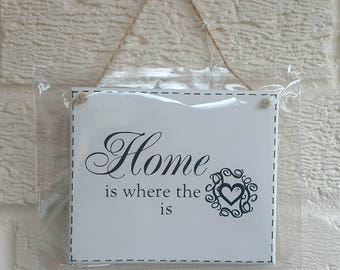 HOME is Where The Heart Is - House sign - wooden Sign Plaque New Home gift House Gift