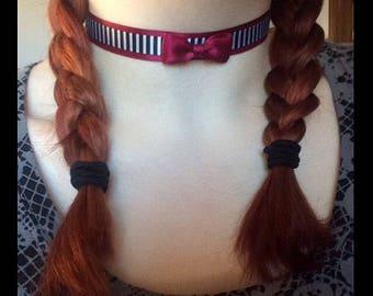 Striped Maroon Choker