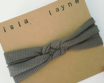 Sailor knot headband-fabric headband-IslaLayne-baby shower gift-sailor knot-handmade headband