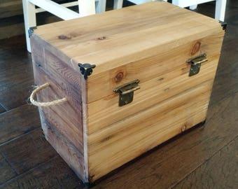 Beautiful Wood Storage Box/Crate