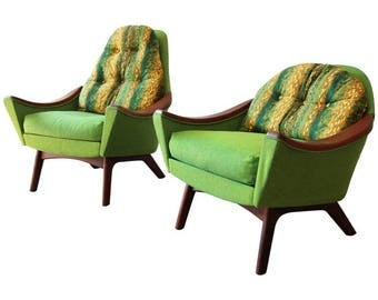 Original Adrian Pearsall Mid-Century Modern His and Hers Lounge Chairs, 1960s