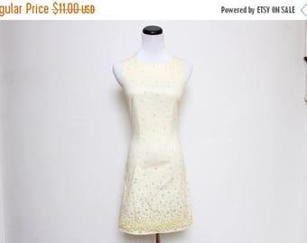 25% OFF VTG 90s Flower Cute Babydoll Yellow Picnic Mini Dress XS/S