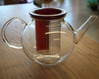 Clear Glass Finum Tea Pot