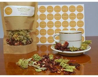 Greek Herbal Tea Blend Beverage With Mountain Tea Sideritis & Dried Hibiscus Flowers 1500gr  ( 52.9oz )