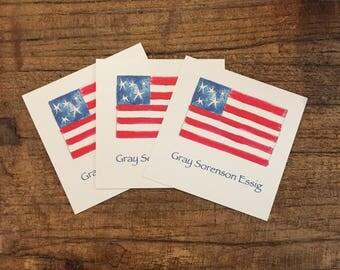 American flag tags