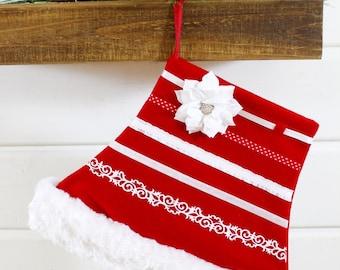 Modern Unique Boutique Mrs. Claus Skirt Christmas Stocking