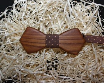 Wooden brown bow tie,bow tie for man,mens bow tie, boys bow tie, wedding bow tie, bow tie man, bow tie