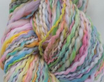 Melody skein of yarn spun to spinning wheel.