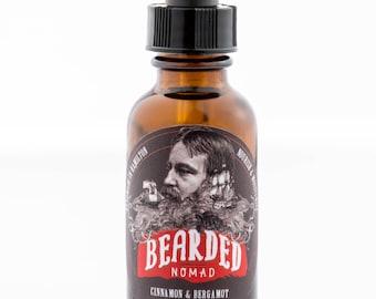 Bearded Nomad's Cinnamon and Bergamot beard and moustache oil
