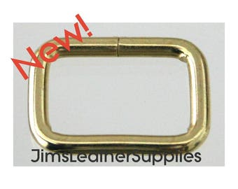 """5/8"""" wire loops 20 pack brass plated steel - also known as belt keepers 5/8"""" X 3/8"""" X 2.4mm (#78)"""