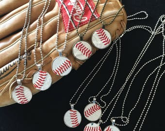 Baseball necklace with name and number