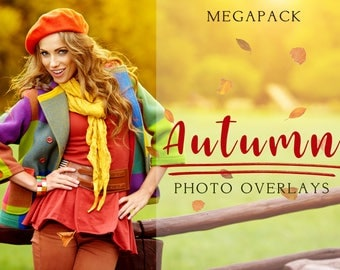 Megapack Autumn overlays, photoshop overlay, sky overlay, photoshop texture, photography overlays